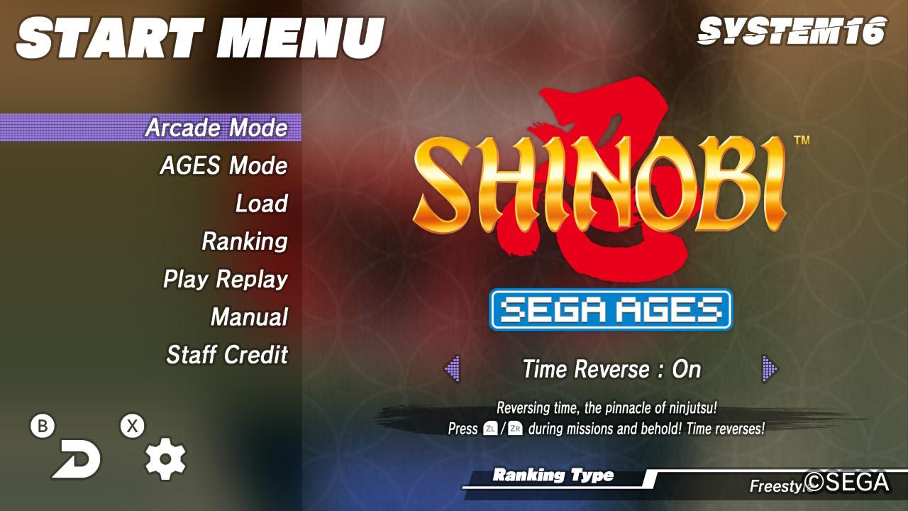 Shinobi menue