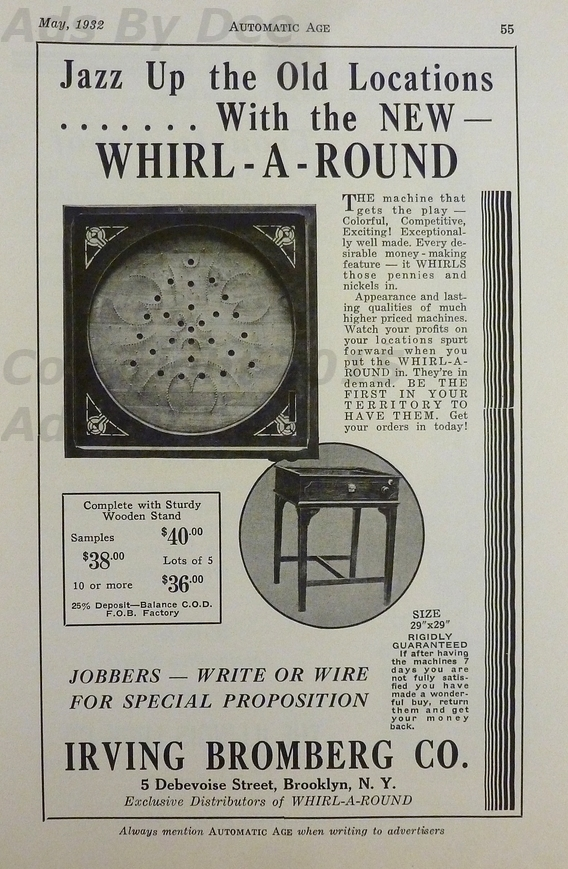 WHIRL A ROUND - 1932 - IRVING BROMBERG CO